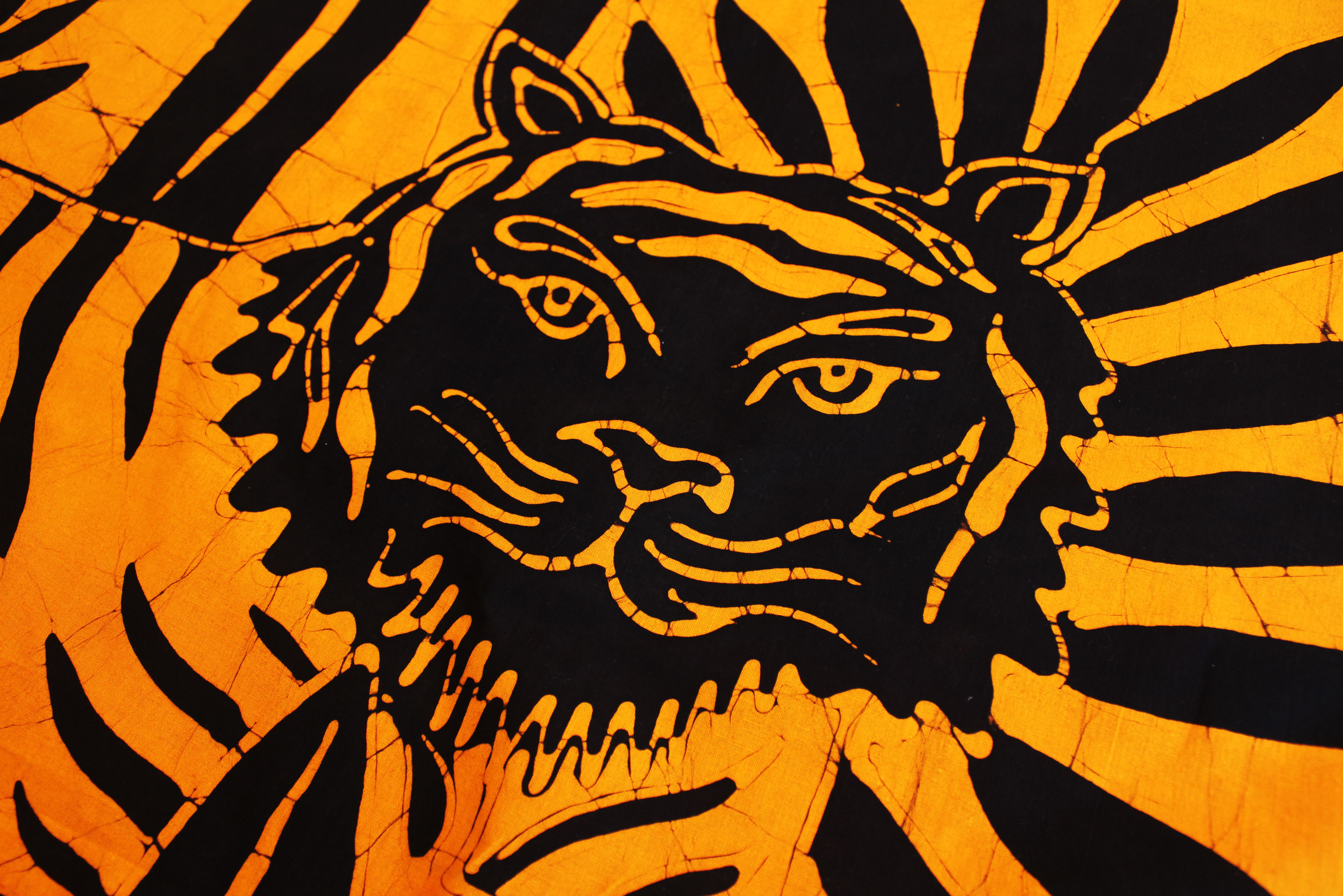Batik with tiger design.