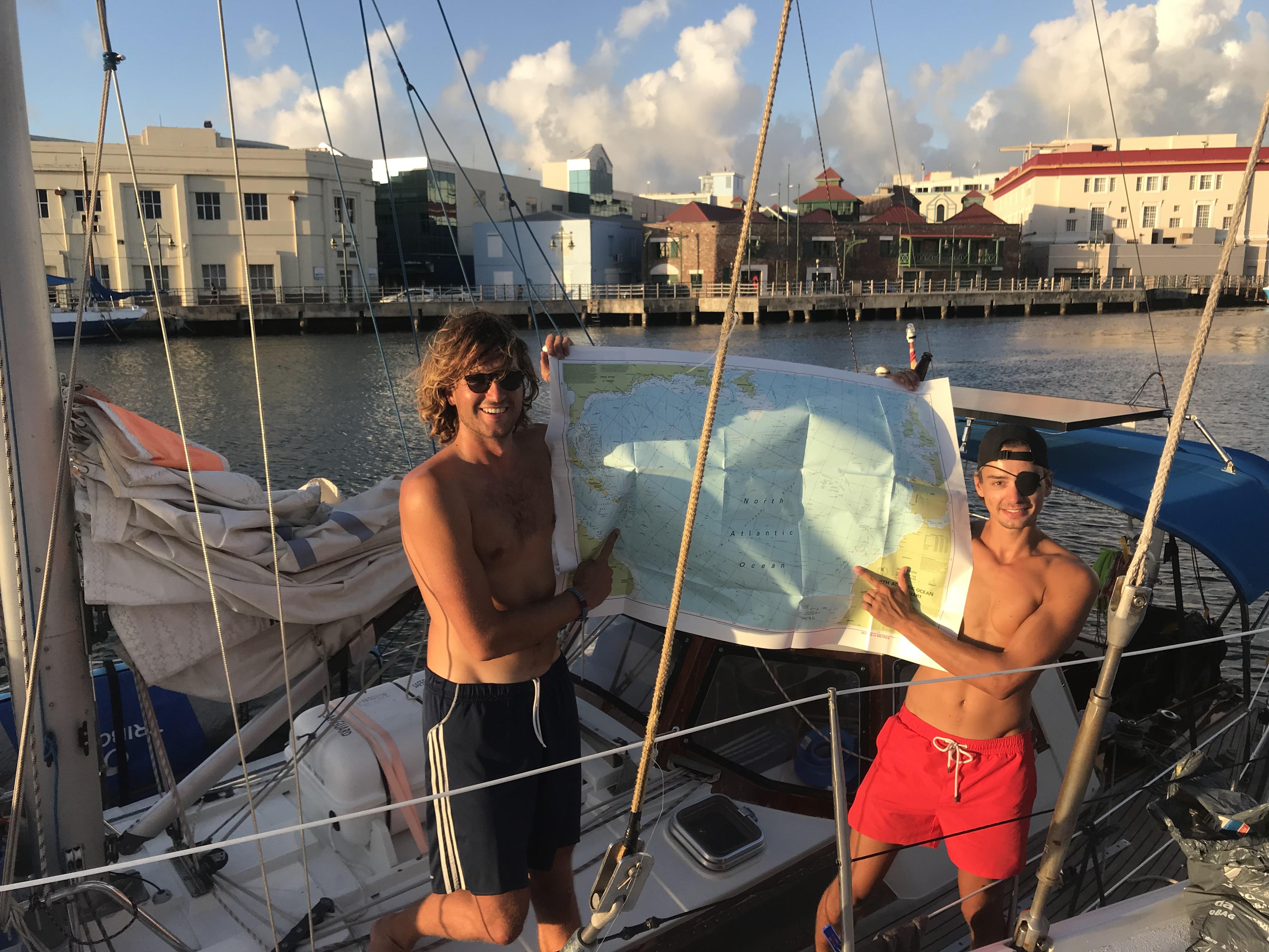 Max (left) and Hilmar (right) - Barbados.