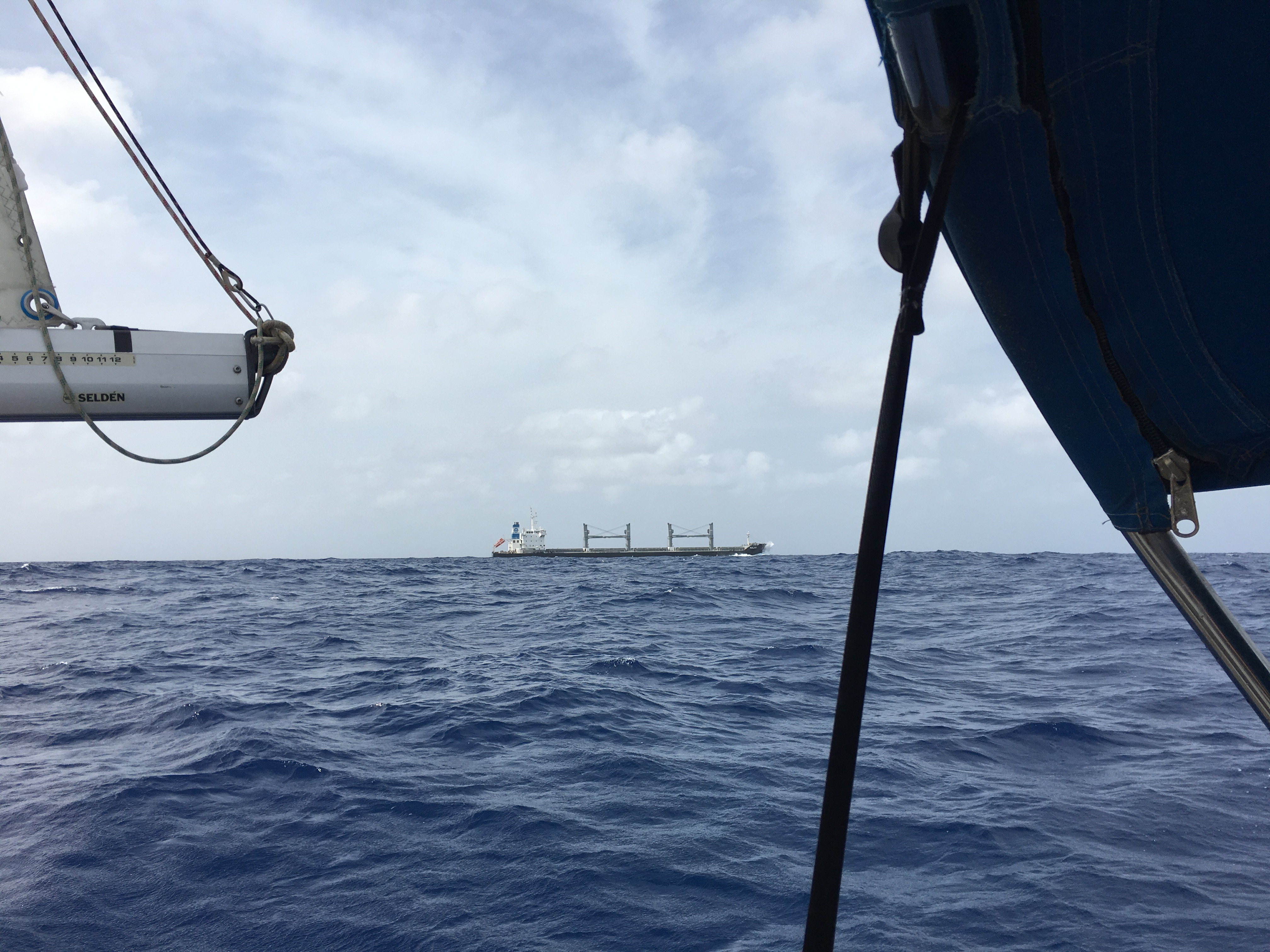 Oil tanker, floating off radar.